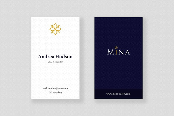 Mina-Beauty - 53+ TOP PSD Business Card Designs [year]