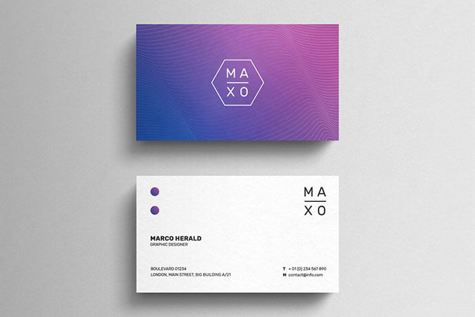 Minimal-Gradient - 53+ TOP PSD Business Card Designs [year]