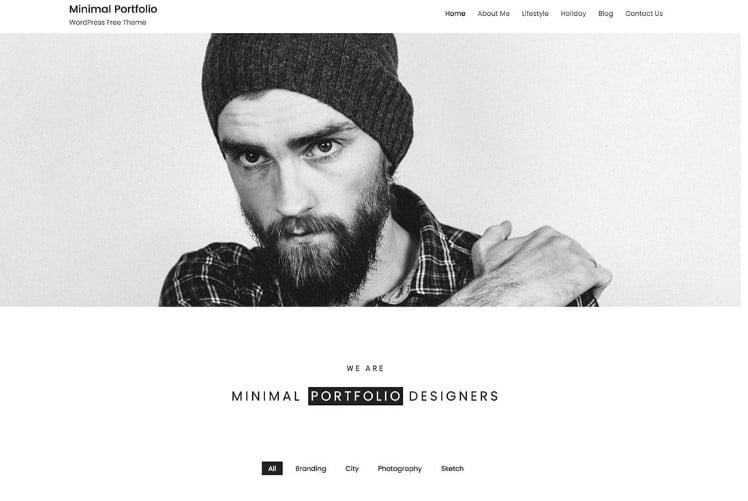 Minimal-Portfolio - 39+ BEST FREE WordPress Portfolio Themes [year]