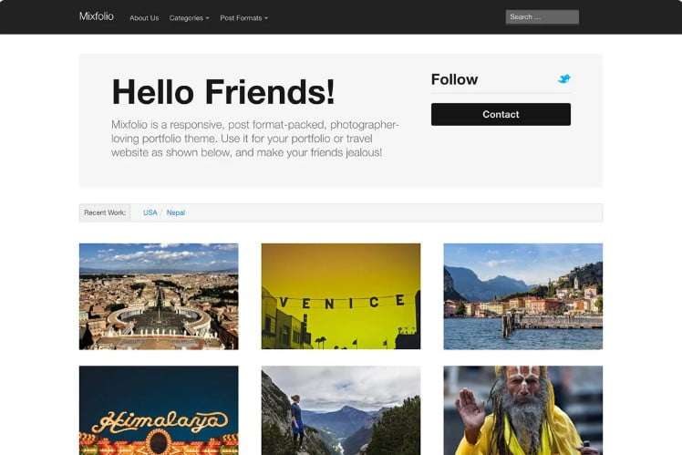 Mixfolio - 39+ BEST FREE WordPress Portfolio Themes [year]