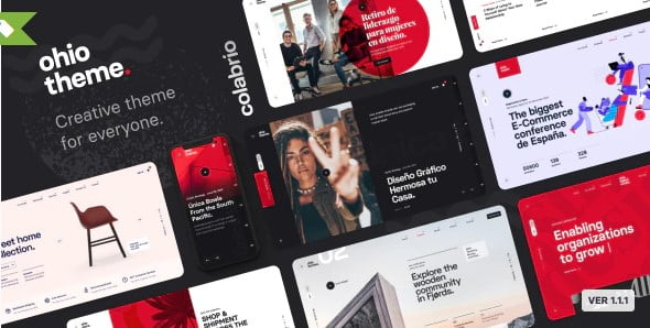 Ohio - 39+ BEST FREE WordPress Portfolio Themes [year]