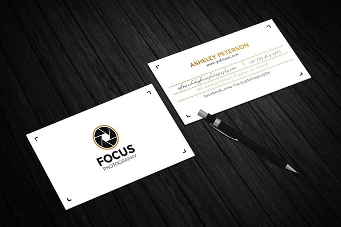 Photography-Business-Card - 53+ TOP PSD Business Card Designs [year]