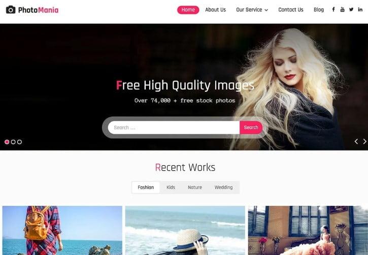 Photomania - 39+ BEST FREE WordPress Portfolio Themes [year]