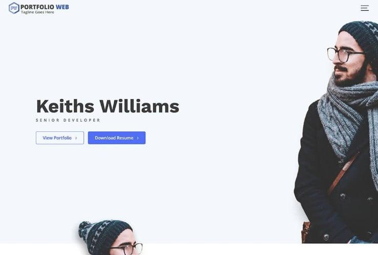 Portfolio-Web - 39+ BEST FREE WordPress Portfolio Themes [year]