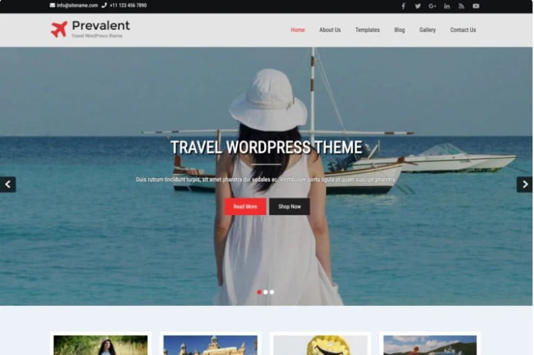 Prevalent - 33+ BEST FREE WordPress Travel Themes [year]