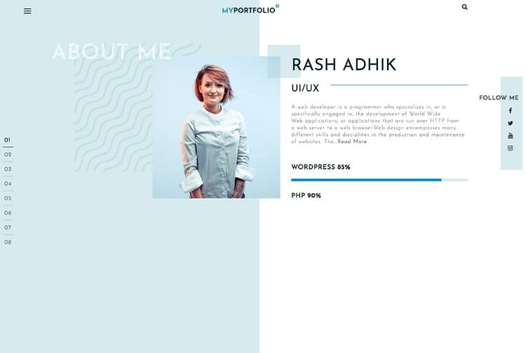 RT-Portfolio - 39+ BEST FREE WordPress Portfolio Themes [year]
