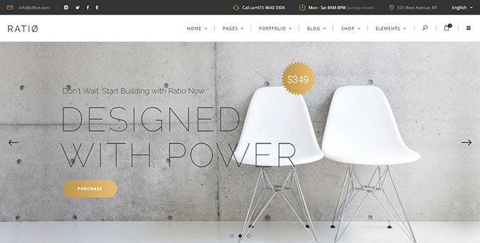 Ratio - 40+ NICE WordPress Furniture & Interior Ecommerce Themes [year]