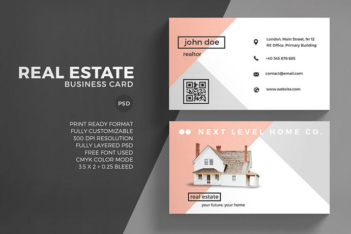 Real-Estate - 53+ TOP PSD Business Card Designs [year]