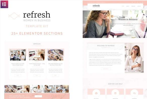 Refresh - 33+ BEST Elementor Template Kits [year]