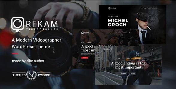 Rekam - 36+ GREAT Videographers WordPress Themes [year]