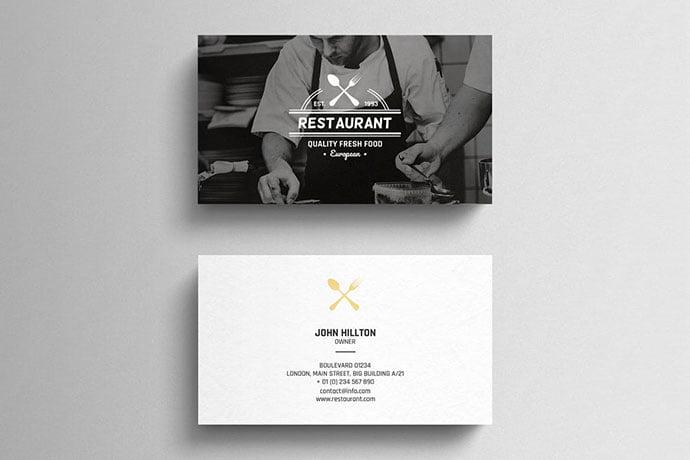 Restaurant - 53+ TOP PSD Business Card Designs [year]