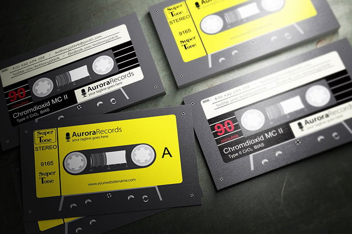 Retro-Music - 53+ TOP PSD Business Card Designs [year]