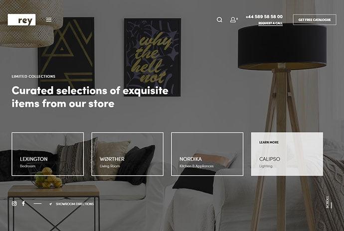 Rey-1 - 40+ NICE WordPress Furniture & Interior Ecommerce Themes [year]