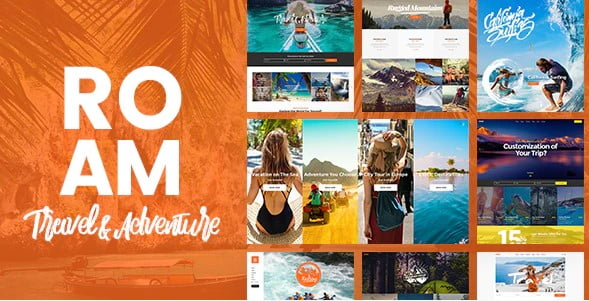 Roam - 33+ BEST FREE WordPress Travel Themes [year]