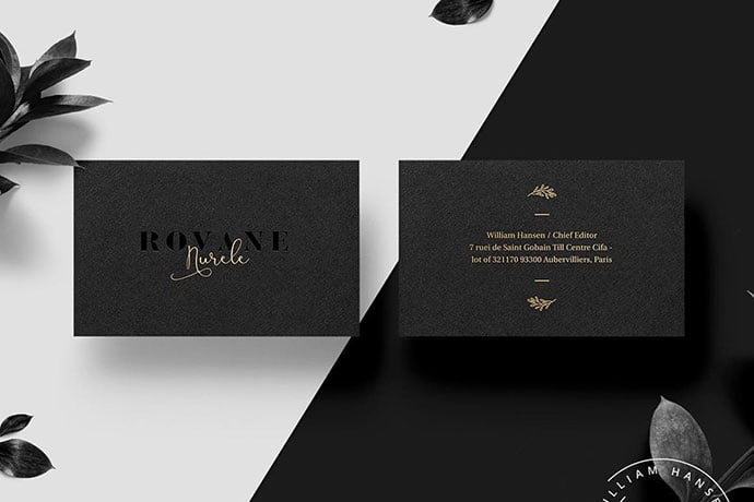 Rovane - 53+ TOP PSD Business Card Designs [year]