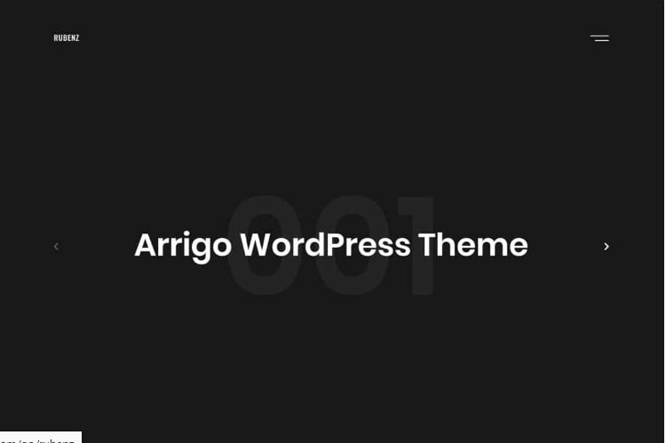 Rubenz - 37+ GREAT Freelancers WordPress Themes [year]