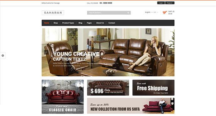 SAHARAN - 40+ NICE WordPress Furniture & Interior Ecommerce Themes [year]