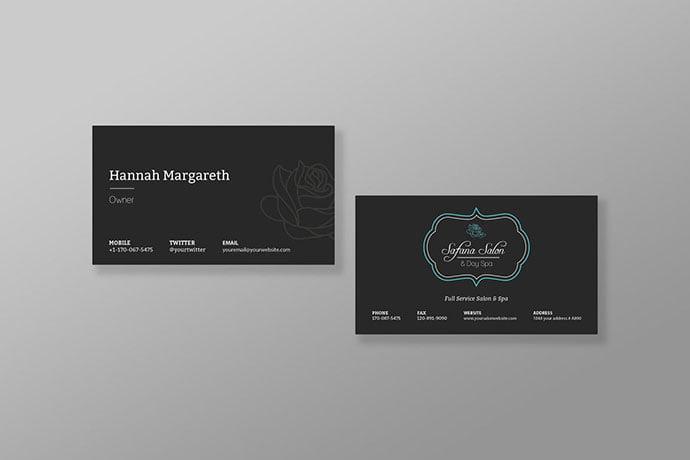 Safana - 53+ TOP PSD Business Card Designs [year]