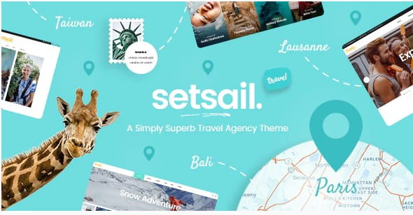 SetSail - 33+ BEST FREE WordPress Travel Themes [year]