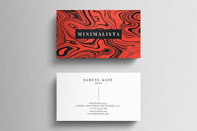 Simple-business-card - 53+ TOP PSD Business Card Designs [year]