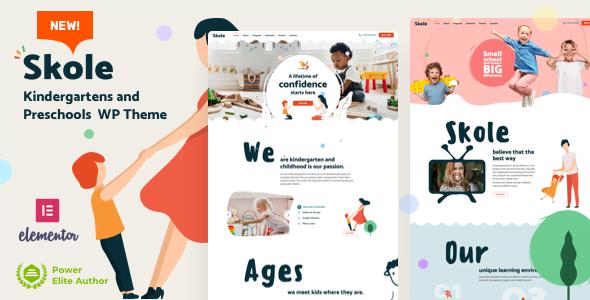 Skole - 33+ TOP WordPress Kindergarten Themes [year]