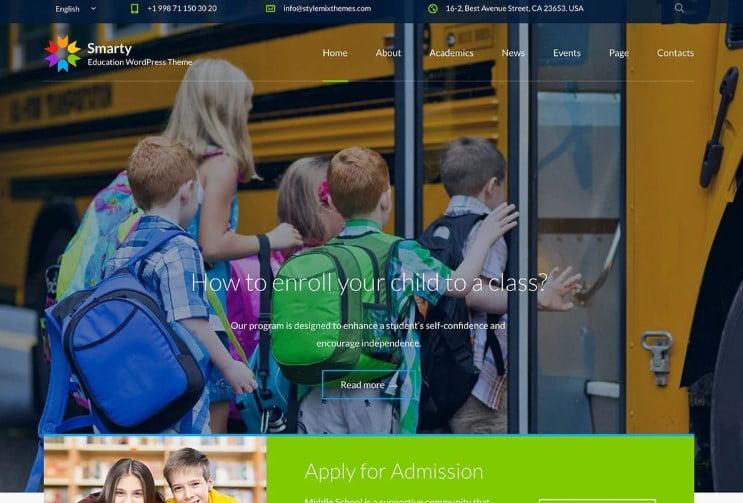 Smarty - 33+ TOP WordPress Kindergarten Themes [year]