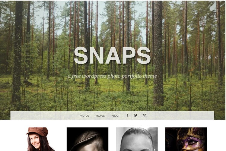 Snaps - 39+ BEST FREE WordPress Portfolio Themes [year]