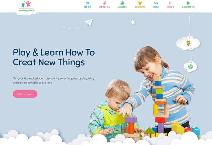 StarKid - 33+ TOP WordPress Kindergarten Themes [year]