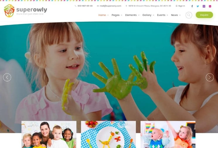 Superowly - 33+ TOP WordPress Kindergarten Themes [year]