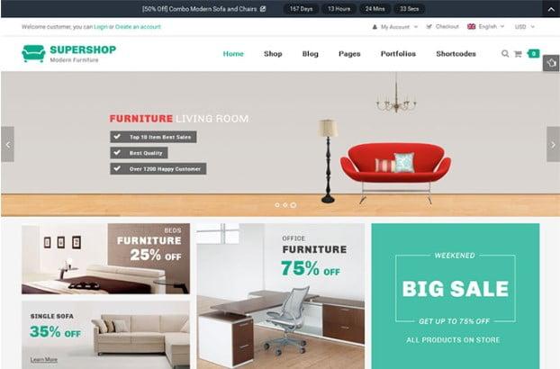 Supershop - 40+ NICE WordPress Furniture & Interior Ecommerce Themes [year]