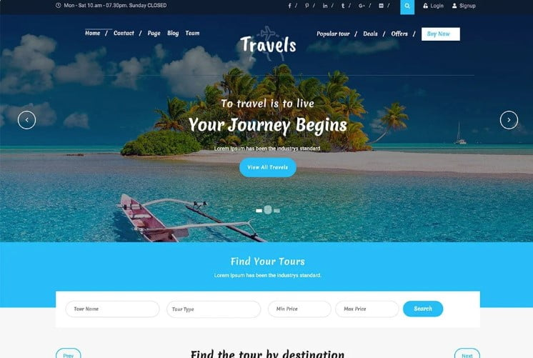 Tafri-Travel - 33+ BEST FREE WordPress Travel Themes [year]