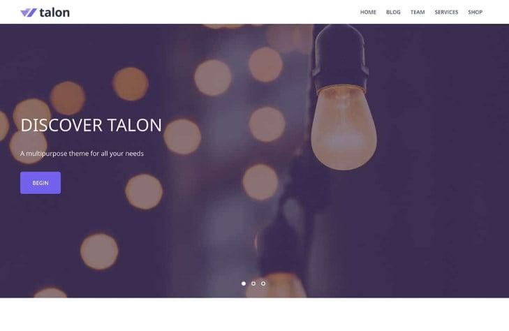 Talon - 39+ BEST FREE WordPress Portfolio Themes [year]