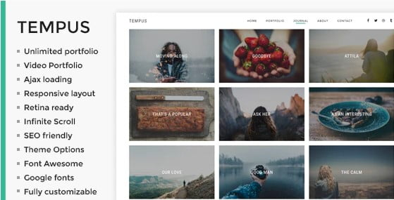 Tempus - 36+ GREAT Videographers WordPress Themes [year]