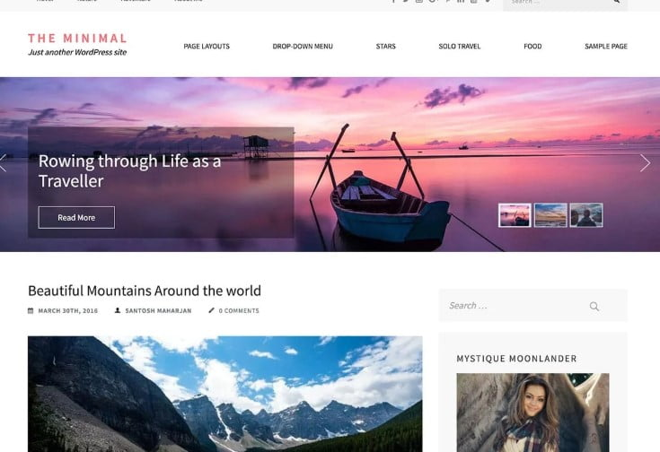 The-Minimal - 33+ BEST FREE WordPress Travel Themes [year]