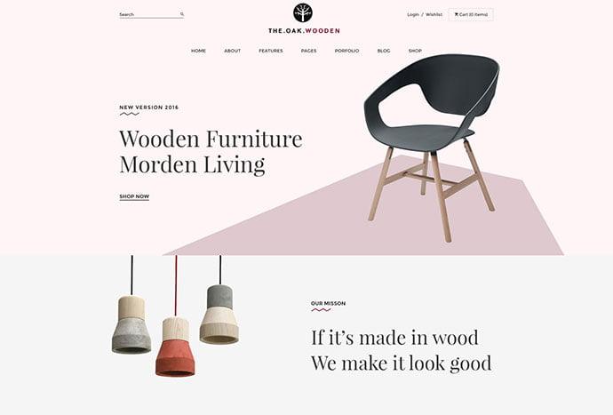 TheOak - 40+ NICE WordPress Furniture & Interior Ecommerce Themes [year]