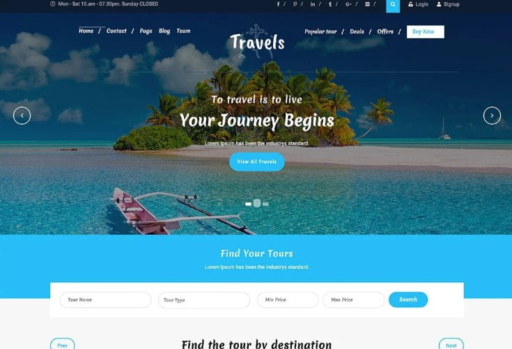 Travel-Agency - 33+ BEST FREE WordPress Travel Themes [year]