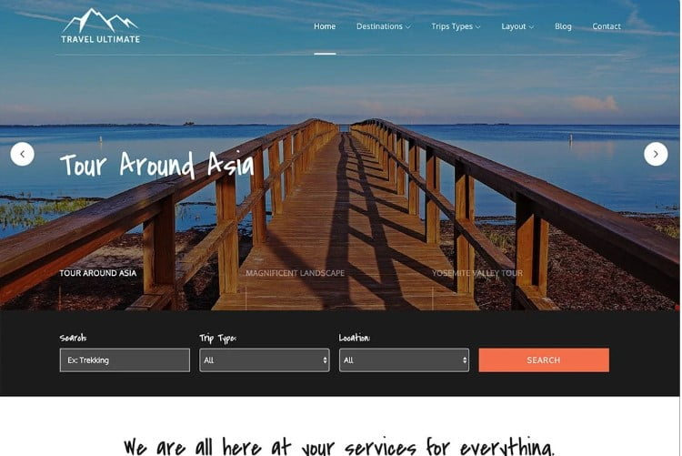 Travel-Ultimate - 33+ BEST FREE WordPress Travel Themes [year]