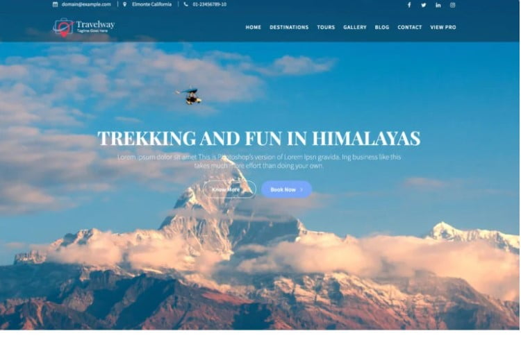 Travel-Way - 33+ BEST FREE WordPress Travel Themes [year]