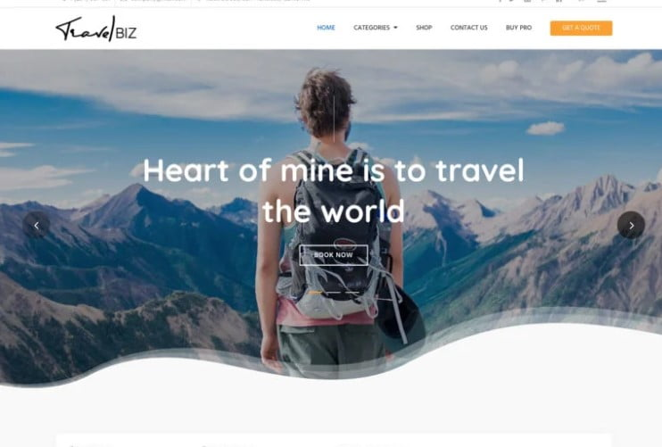 Travelbiz - 33+ BEST FREE WordPress Travel Themes [year]