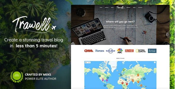 Trawell - 33+ BEST FREE WordPress Travel Themes [year]