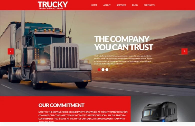 Trucky - 36+ BEST WordPress Insurance Themes [year]