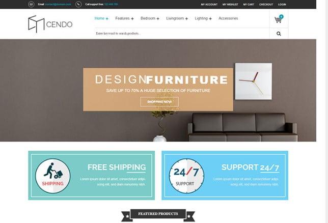 VG-Cendo - 40+ NICE WordPress Furniture & Interior Ecommerce Themes [year]