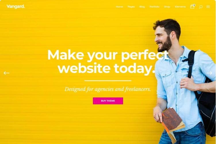 Vangard - 37+ GREAT Freelancers WordPress Themes [year]