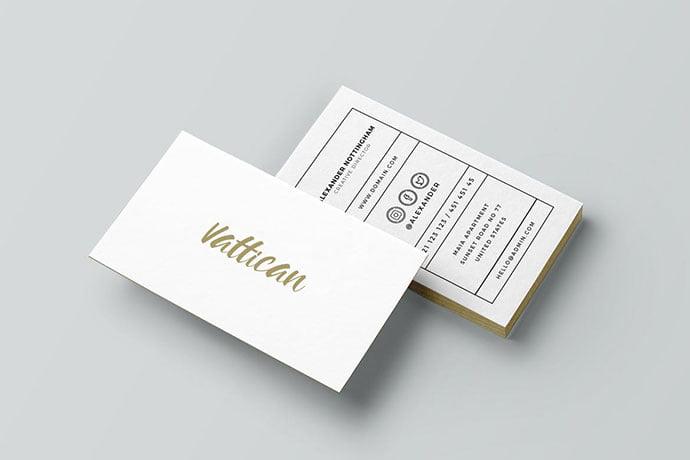 Vattican - 53+ TOP PSD Business Card Designs [year]