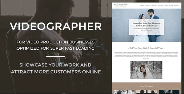 Videographer - 36+ GREAT Videographers WordPress Themes [year]