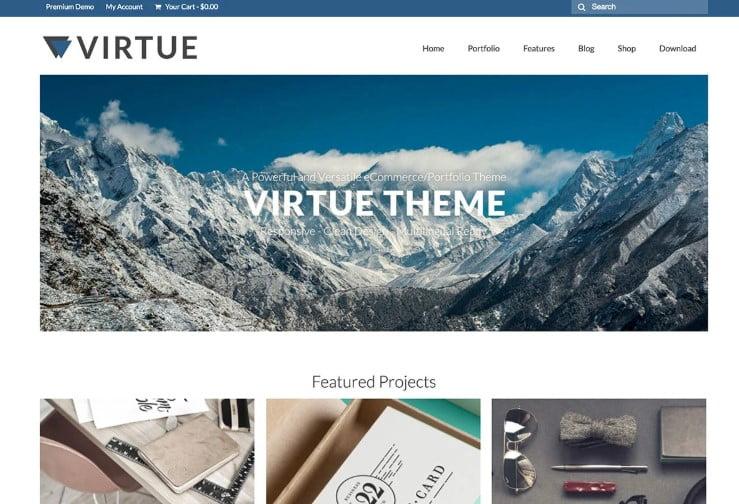 Virtue - 39+ BEST FREE WordPress Portfolio Themes [year]