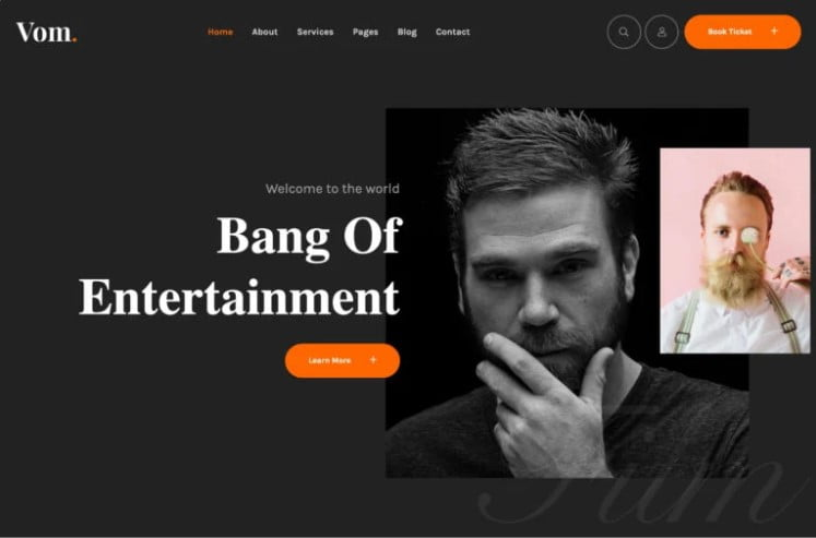 Vome - 36+ GREAT Videographers WordPress Themes [year]