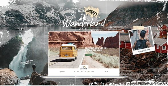 Wanderland - 33+ BEST FREE WordPress Travel Themes [year]