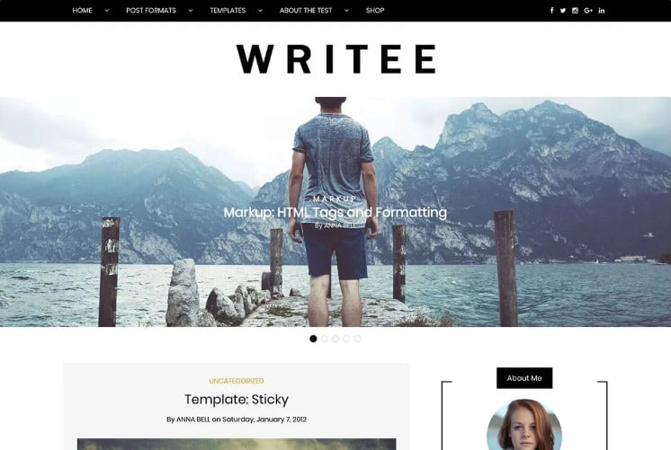 Writee - 33+ BEST FREE WordPress Travel Themes [year]