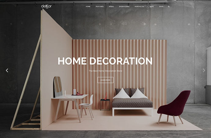 deKor - 40+ NICE WordPress Furniture & Interior Ecommerce Themes [year]